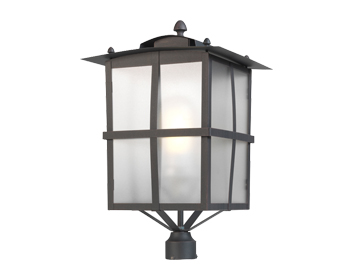 Leds C4 Rustica Decorative Outdoor Lamp (Head Only), Epoxy/Oxide Brown Finish - 60-9866-18-M3