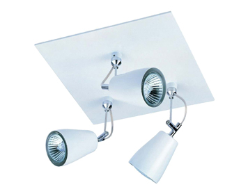 Astro Polar Triple Square Spotlight, Matt White Finish - 6005