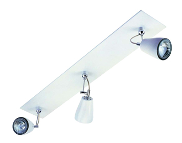 Astro Polar Triple Bar Spotlight, Matt White Finish - 6006