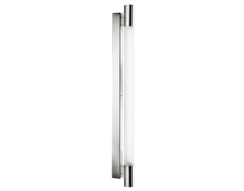 Fluorescent lights from easy lighting searchlight poplar fluorescent 1 light wall light chrome finish with round white glass diffuser aloadofball Image collections