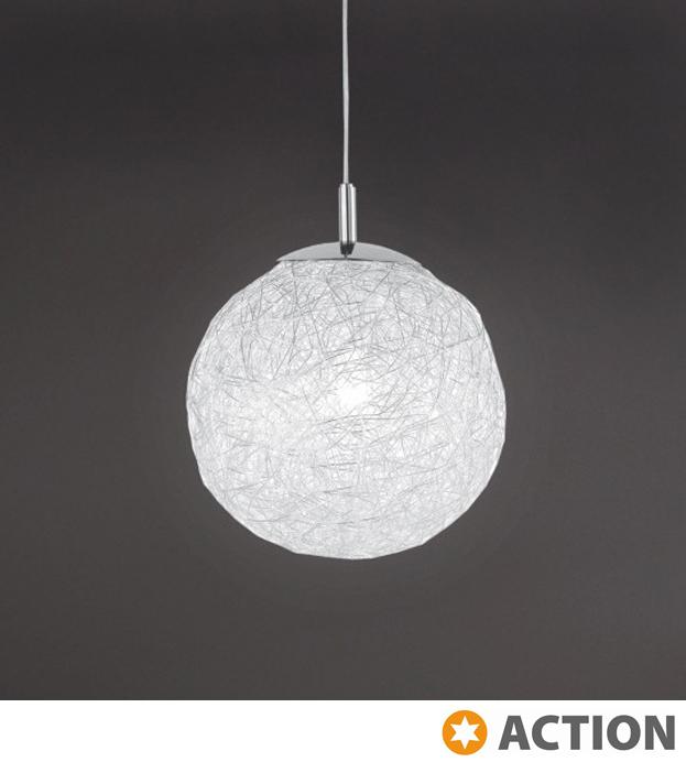 Action Dakota 1 Light 50cm Ceiling Pendant Chrome