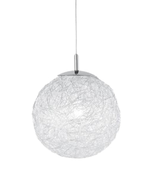 Action Dakota 1 Light 30cm Ceiling Pendant, Chrome - 602101010300