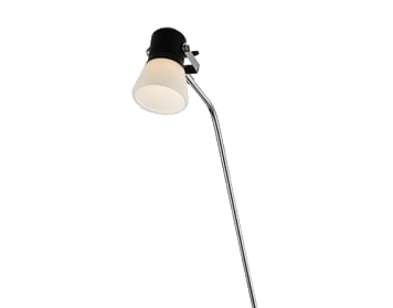 Endon Whitehall LED Touch Floor Lamp, Matt Black Finish With Frosted Glass - 60215