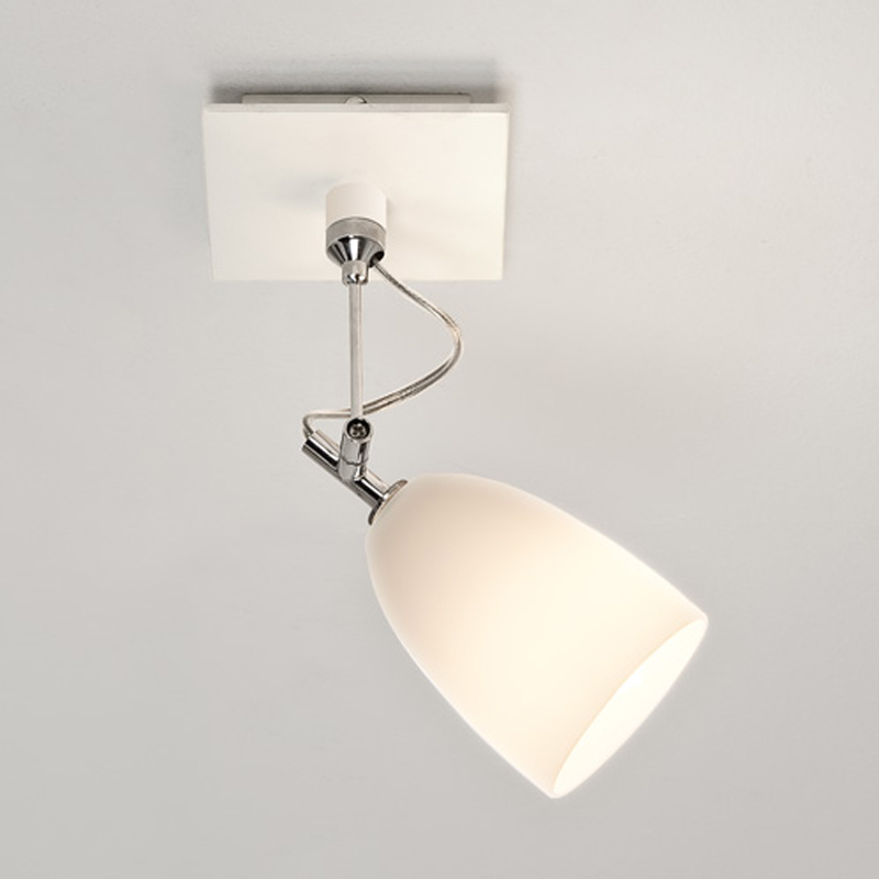 Astro Pavia Single Spotlight, White Finish - 6023