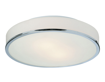 Firstlight Profile Low Energy Round Flush Fitting Ceiling Light, Chrome Finish With Opal Glass - 6028CH