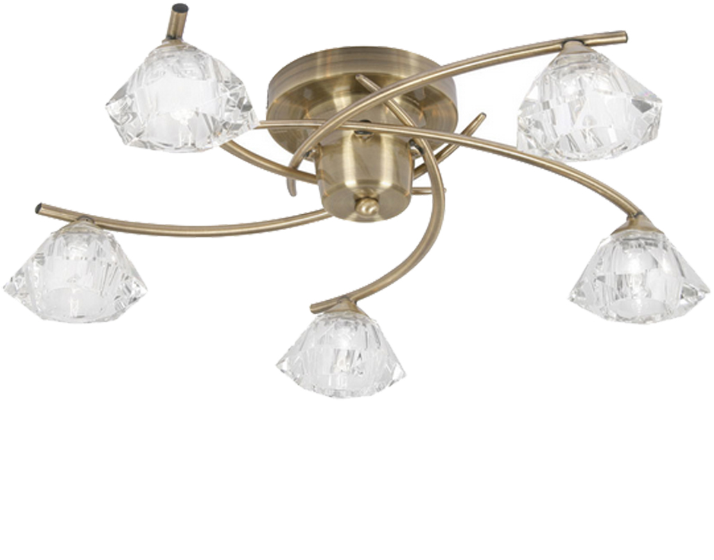 4 and 5 light semi flush ceiling lights from easy lighting oaks lighting jeo 5 light semi flush ceiling fitting antique brass aloadofball Image collections