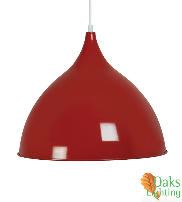 Oaks Lighting Sama 1 Light Ceiling Pendant Red