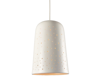 Endon Odell Non-Electric Pendant, Gloss Porcelain Finish - 60826