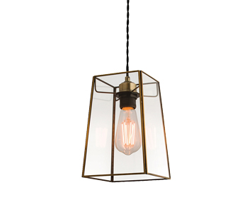 Endon Beaumont Non-Electric Pendant, Antique Brass Finish With Clear Glass - 60892