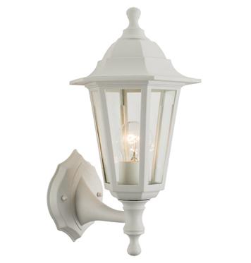 Nice Endon U0027Bayswateru0027 IP44 Outdoor Wall Light, White Polypropylene U0026 Clear  Glass   60965