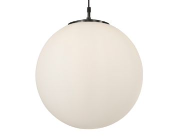 Firstlight Mondo Round Flush Fitting Ceiling Light, Chrome Finish With Opal Glass - 6099CH