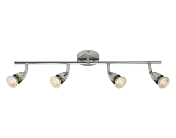 Endon Amalfi 4 Light Bar Spotlight, Chrome Plate Finish - 60991