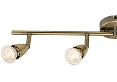 Four bar spot lights from easy lighting endon amalfi 4 light bar spotlight antique brass plate 60992 mozeypictures Choice Image