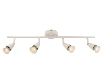 Endon Amalfi 4 Light Bar Spotlight, Gloss White Finish - 60993