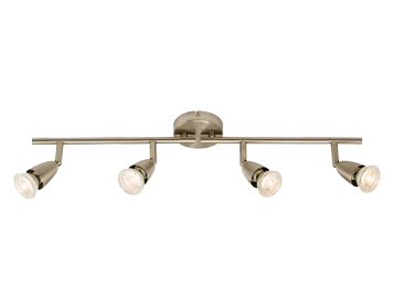 Endon Amalfi 4 Light Bar Spotlight, Satin Nickel Finish - 60995