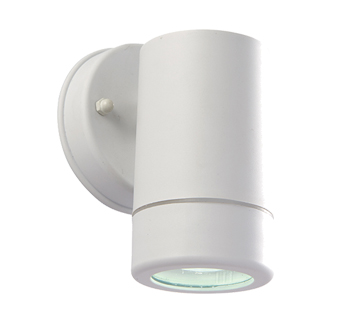 Endon Icarus LED 1 Light Outdoor Wall Light, White Polypropylene & Clear Polycarbonate Finish - 61004