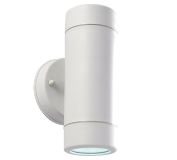 Endon Icarus LED 1 Light Outdoor Wall Light, White Polypropylene & Clear Polycarbonate - 61005