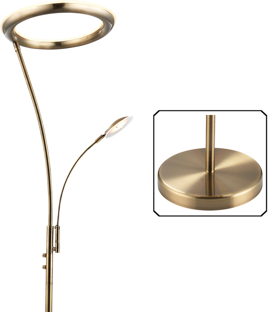 Endon Seville Led Mother Amp Child Floor Lamp Antique