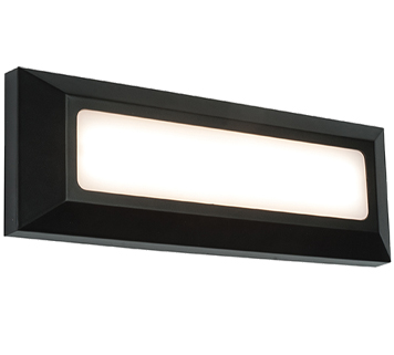 Endon Severus IP65 LED Round Outdoor Wall Light, Grey ABS Plastic & Frosted Polycarbonate - EL ...
