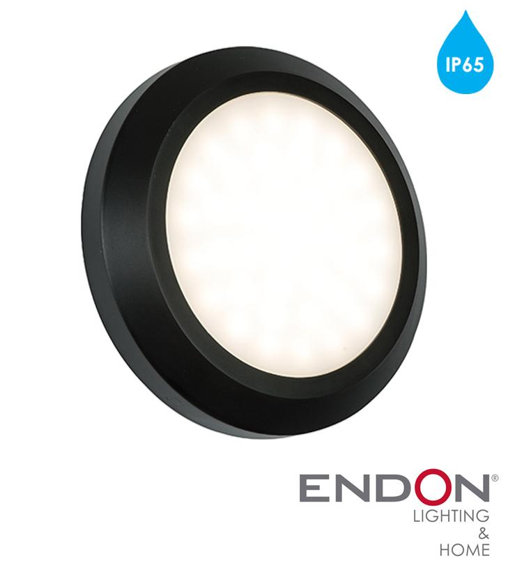 Endon severus ip65 led round outdoor wall light black abs plastic endon severus ip65 led round outdoor wall light black abs plastic frosted aloadofball Choice Image