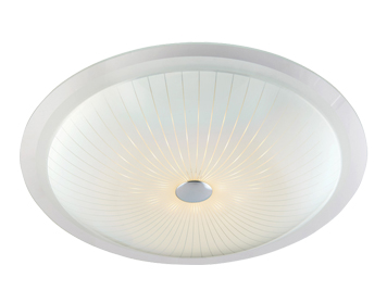 Endon Fretton 18W LED Flush Ceiling Light, Opal Finish With Clear & Frosted Glass - 61225