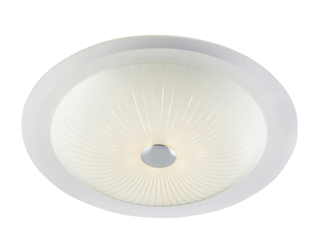 Endon Fretton 12W LED Flush Ceiling Light, Opal Finish With Clear & Frosted Glass - 61229