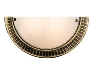 Endon Brahm 1 Light Wall Light, Antique Brass Finish With Acid Etched Glass - SALE-61236