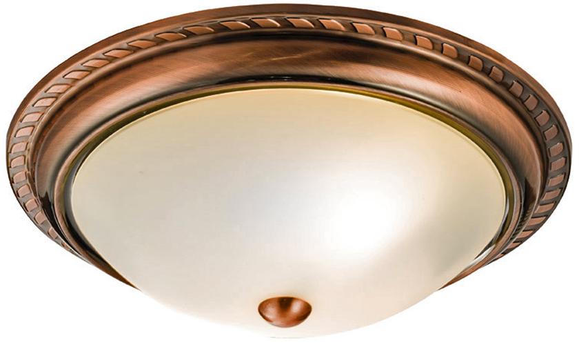 Copper Effect Wall Lights : Endon Athens 2 Light Flush Ceiling Light, Antique Copper Effect Plate & Acid Etched Glass ...