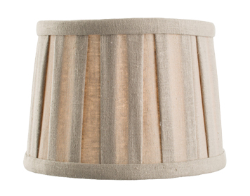 Endon Cleo Tapered Cylinder Shade (150mm), Taupe Faux Linen Finish - 61343