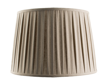 Endon Cleo Tapered Cylinder Shade (405mm), Taupe Faux Linen Finish - 61354