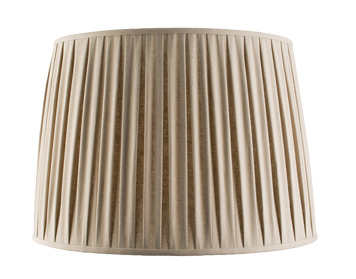 Endon Cleo Tapered Cylinder Shade (460mm), Taupe Faux Linen Finish - 61357