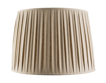 Endon Cleo Tapered Cylinder Shade (560mm), Taupe Faux Linen Finish - 61362