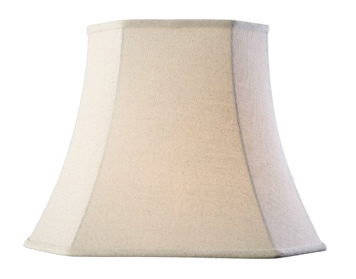 Endon Cilla Square Tapered Shade (410mm), Oatmeal Faux Linen Finish - 61367