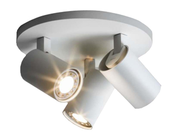 Astro Ascoli Triple Round Spotlight, Textured White Finish - 6143