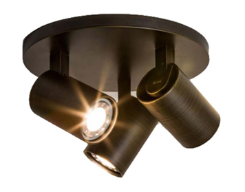 Astro Ascoli Triple Round Spotlight, Bronze Finish - 6146