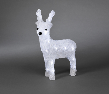 Konstsmide Battery Operated Small Acrylic Reindeer With 24 White LED's - 6158-203