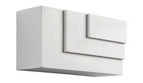 Endon 'Ripple' Cube LED 1 Light Wall Light, White plaster - 61634