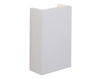 Endon Mornington 2 Light LED Wall Light, White Plaster Finish - 61635