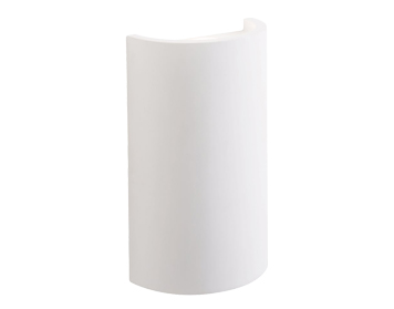 Endon Crescent 2 Light LED Wall Light, White Plaster Finish - 61636