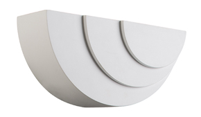 Endon 'Ripple' Arc LED 1 Light  Wall Light, White plaster - 61637