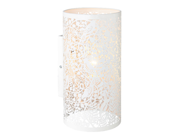 Endon Secret Garden 1 Light Wall Light, Matt Ivory Finish - 61684