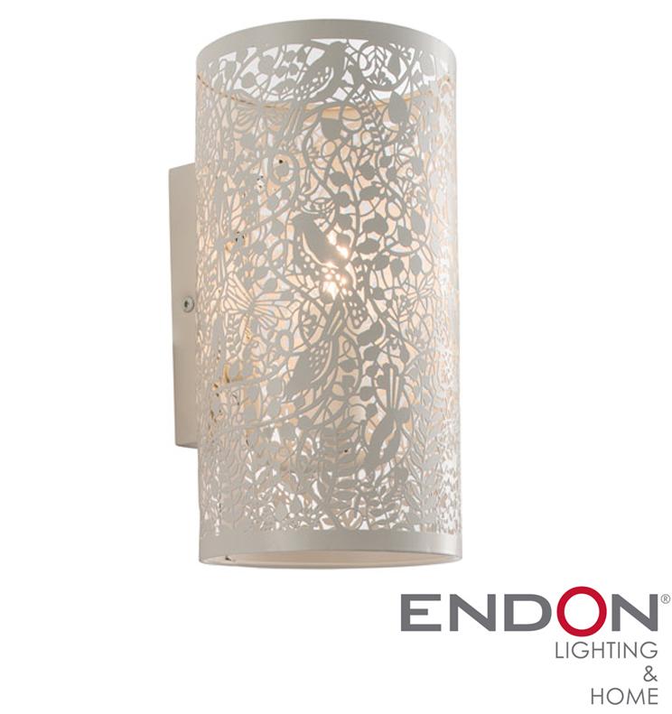 Endon Secret Garden 1 Light Wall Light Matt Ivory Paint