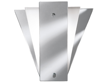 Searchlight Fan Mirror Wall Light, With Mirrored & Frosted Glass Back Panels - 6201