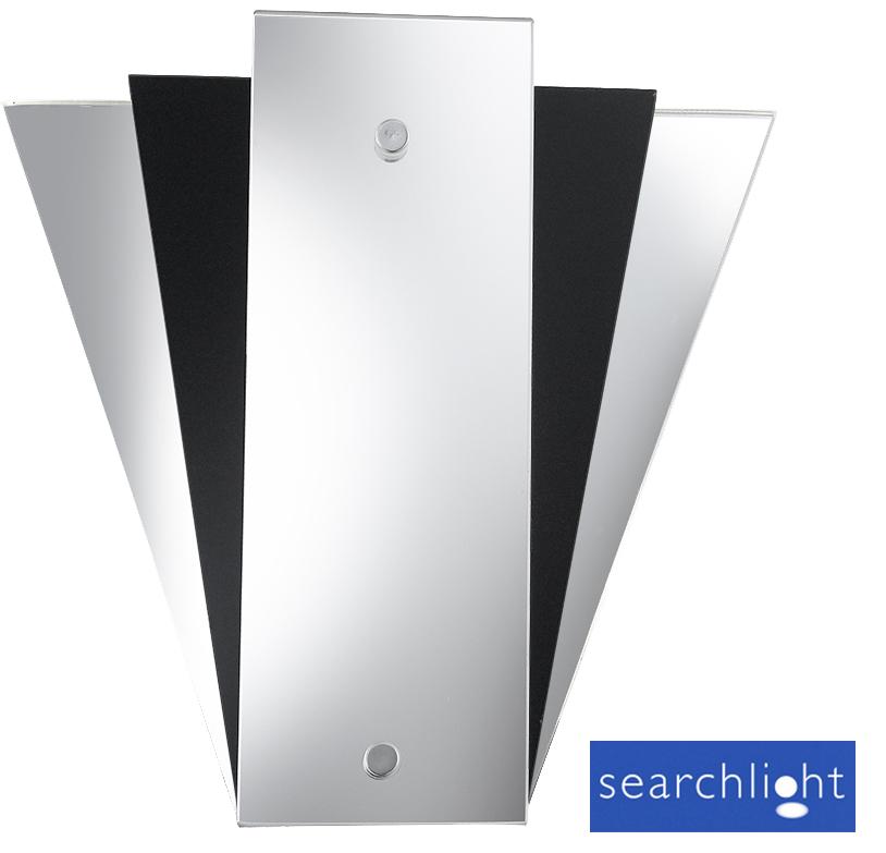 Searchlight 'Fan Design' Mirror Wall Light - 6201BK from Easy Lighting