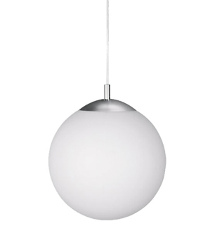 Wofi Point 1 Light 30cm Diameter Ceiling Pendant Light, Matt Nickel - 6248.01.64.0300