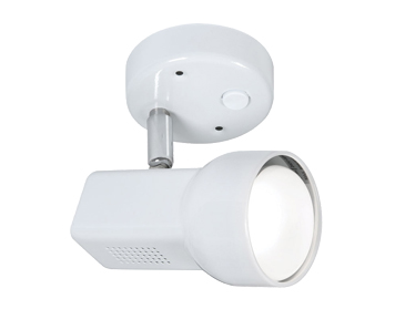 Oaks Lighting Quattro 80 Switched Spotlight, White Finish - 6311WH