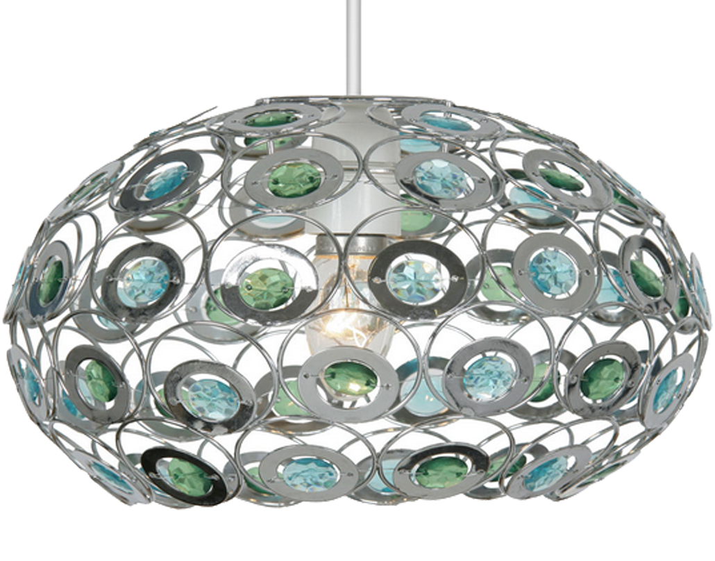 Oaks Lighting 'Tulsa' Non-Electric Ceiling Pendant, Blue & Green - 6403 BG