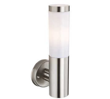 Stainless Steel Outdoor Wall Lights from Easy Lighting:Firstlight 'Plaza' IP44 Outdoor Wall Light, Stainless Steel - 6405ST,Lighting