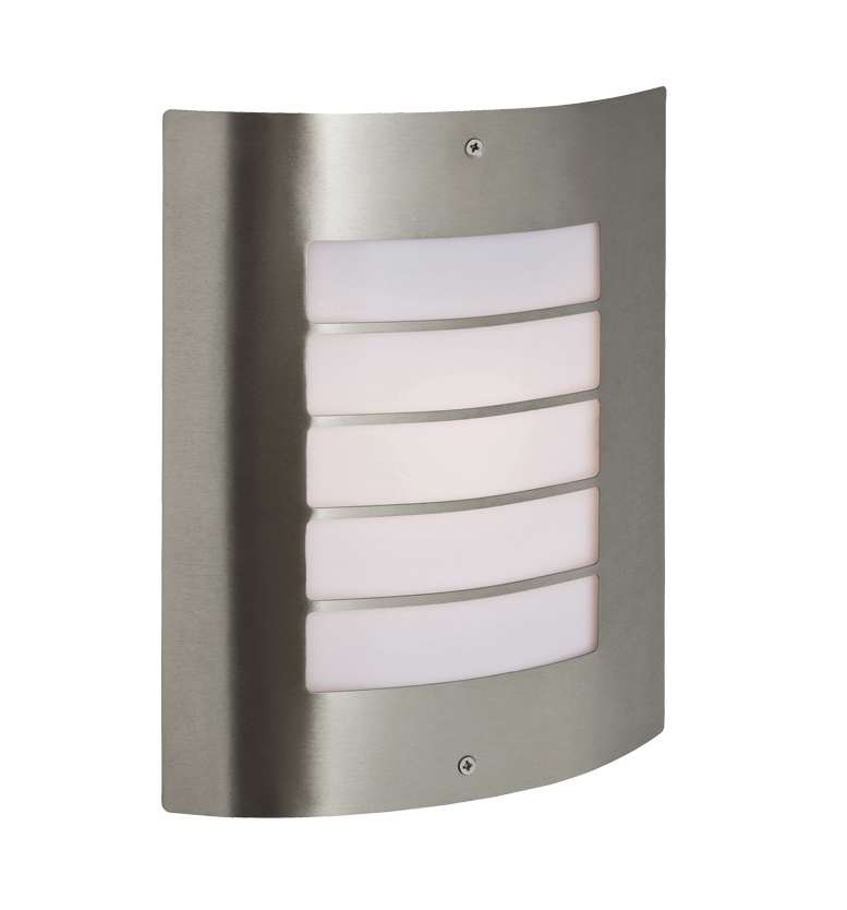 Firstlight Prince IP44 Outdoor Flush Wall Light, Stainless Steel - 6408ST from Easy Lighting