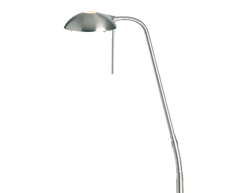 Endon Hackney Touch Dimmer Floor Lamp, Satin Chrome Finish - 656-FLSC